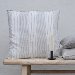 natural washed linen cushion - Angelo