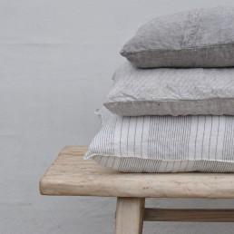 natural washed linen cushion