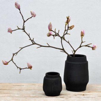 raku fired ceramic pots