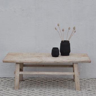 reclaimed elm wood coffee table