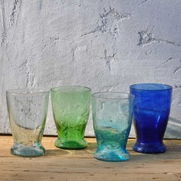 recycled hand blown wine glass