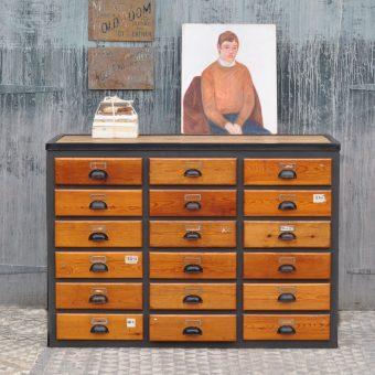 vintage industrial multi drawer cabinet