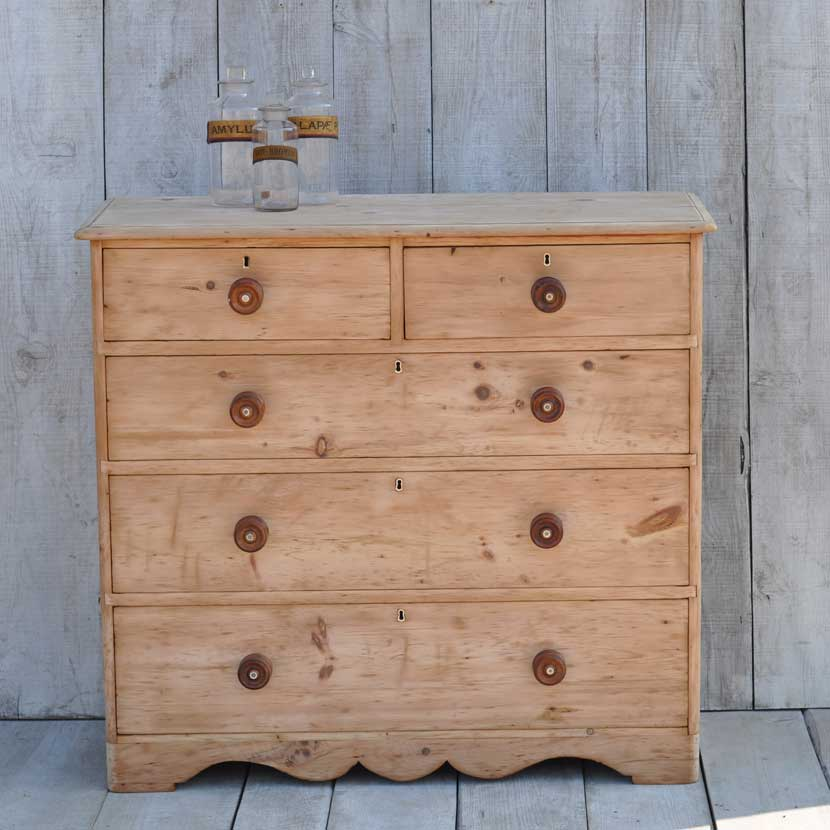 Vintage Pine Chest Of Drawers Home Barn Vintage