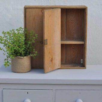 vintage pine wall cupboard