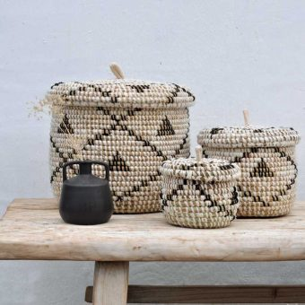 woven hand made storage baskets