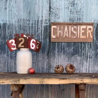 Antique French Chaisier Sign