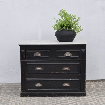 Marble top vintage chest of drawers