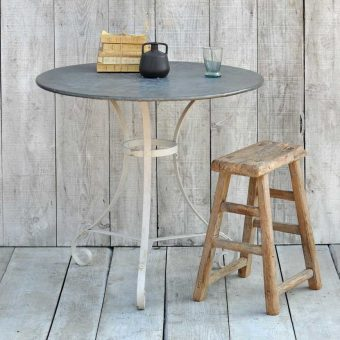 Round Zinc Topped Garden Table