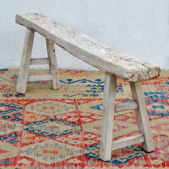 Rustic Long Wooden Bench Cherwell