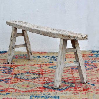 Rustic Long Wooden Bench Isis