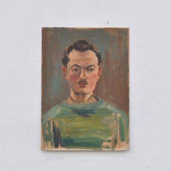 Antique oil painting portrait | Victor