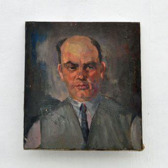 Antique oil painting portrait | Arther