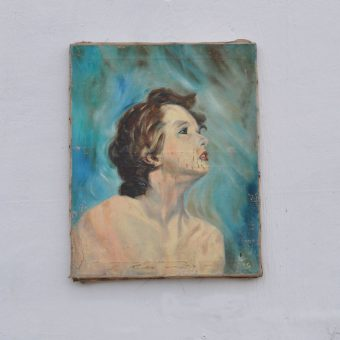 Antique oil painting portrait | Betty