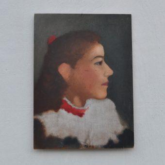 Antique oil painting portrait | Lucy