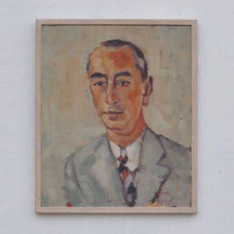 Antique oil painting portrait | Albert