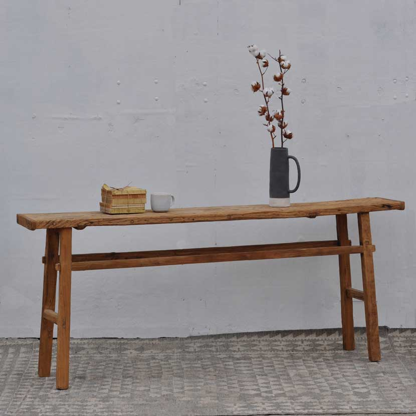 reclaimed rustic wooden console table