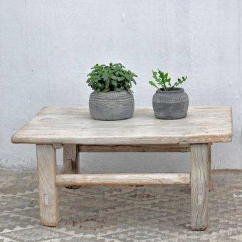 rustic square elm coffee table