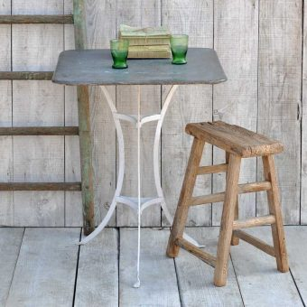 square zinc topped garden table