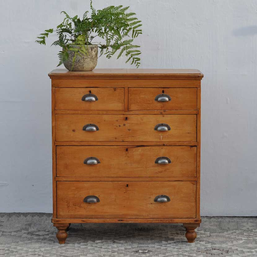 vintage chest of drawers in pine