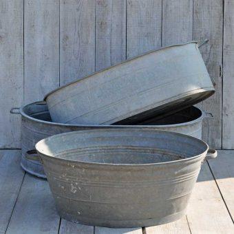 vintage oval garden bath planter