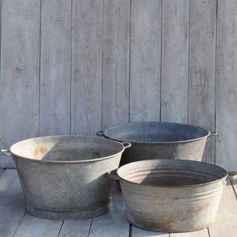 vintage round garden bath planter