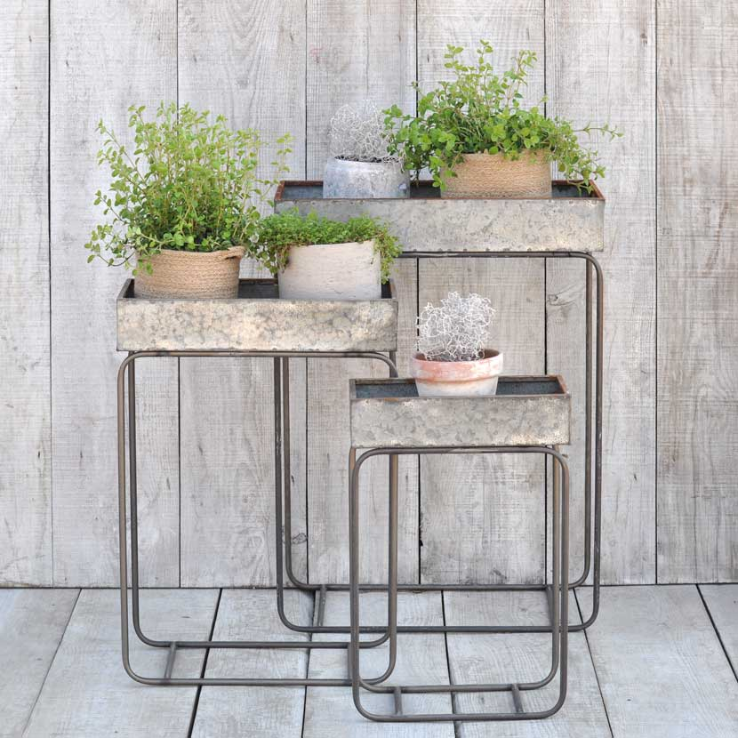 zinc planter bo on stands - Home Barn Vintage on zinc planter boackround on white, zinc garden statues, zinc bowls, zinc furniture, zinc window boxes,