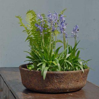 Antique Decorative Cast Iron Bowl