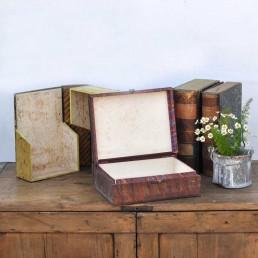 Antique Faux Book Box Files