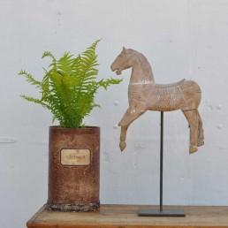 Antique Hand Carved Saddled & Bridled Horse