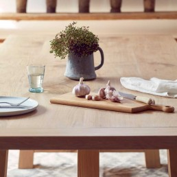 Modern Rustic Oak Dining Table