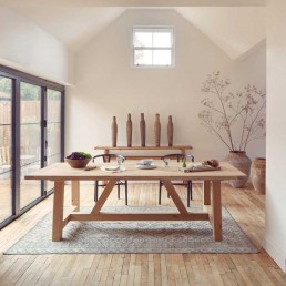 Modern Rustic Oak Dining Table