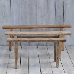 Rustic Antique Wooden Bench