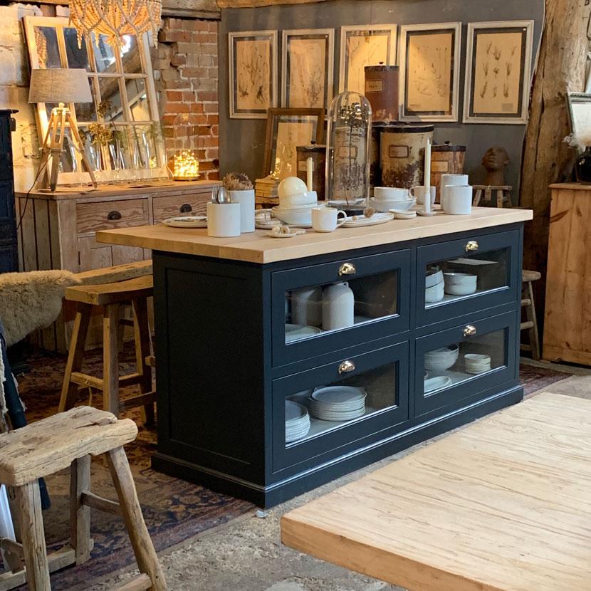 hand made bespoke freestanding kitchen island