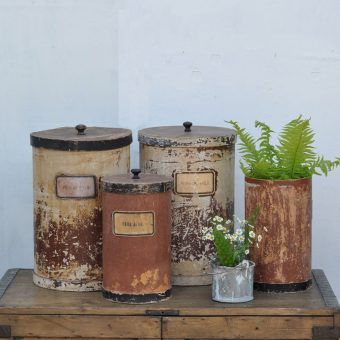 early 1900s french herbalist pots