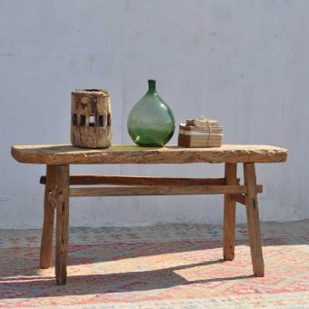 reclaimed rustic elm console table