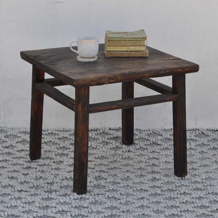 Rustic Square Coffee Table Home Barn Vintage Rustic Square