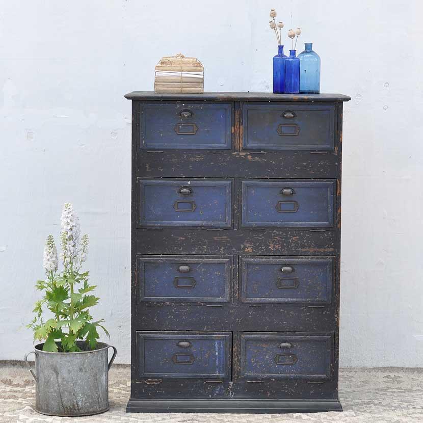 Vintage Wooden Locker Cabinet