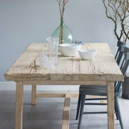 Reclaimed Elm Rustic Trestle Dining Table