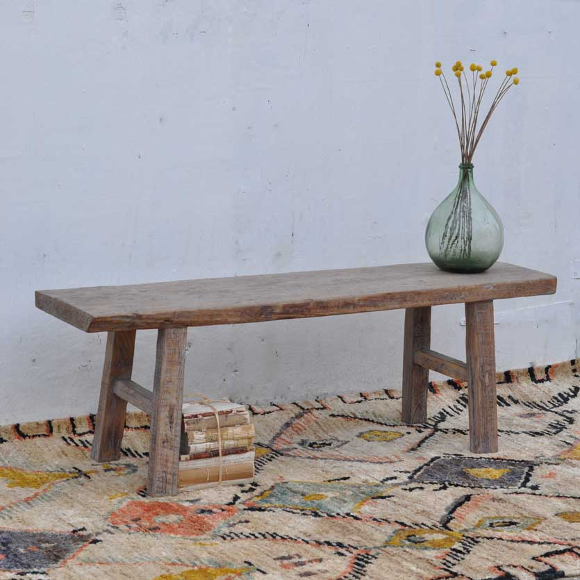 Astonishing Salvaged Timber Coffee Table Bench Home Barn Vintage Bralicious Painted Fabric Chair Ideas Braliciousco