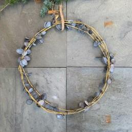 handmade zinc olive wreath decoration