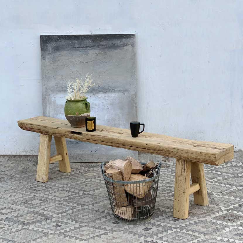 Superb Pale Timber Rustic Reclaimed Dining Bench Creativecarmelina Interior Chair Design Creativecarmelinacom