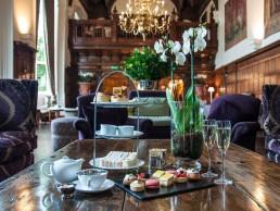 Danesfield interior with cream tea