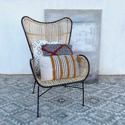 Rattan Arm Chair | High Back