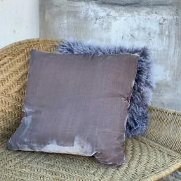 soft pink velvet cushion
