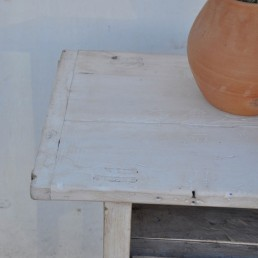 rustic whitened timber console | Meghan