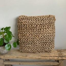 hand woven jute cushion