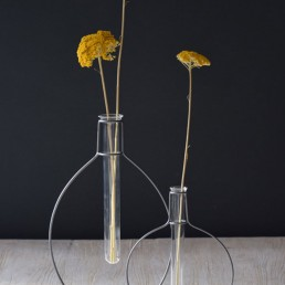 test tube vase with metal stand