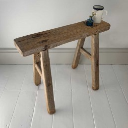 Antique wooden small utility bench