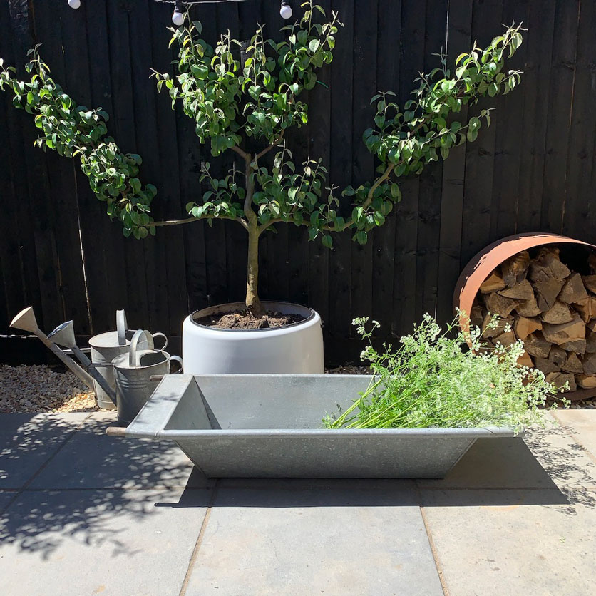 Vintage Galvanised Metal Garden Trough