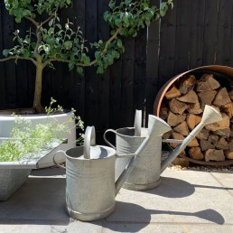 Vintage Galvanised Metal Watering Can